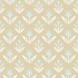 Uitstekend naadloos Patroon met bloemenornament Stock Illustratie