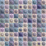 Uitstekend naadloos patroon met de elementen van het tegellapwerk Stock Afbeelding