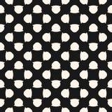 Uitstekend naadloos patroon met eenvoudige geometrische cijfers, bloemen Stock Fotografie