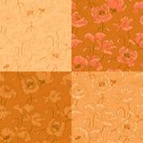 Uitstekend naadloos patroon met papaverbloemen stock illustratie