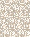 Uitstekend Naadloos Patroon op Beige Royalty-vrije Stock Afbeelding