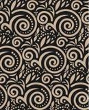 Uitstekend Naadloos Patroon op Zwarte Stock Fotografie