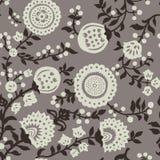 Uitstekend naadloos patroon voor retro behang stock illustratie