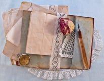 Uitstekend notitieboekje Royalty-vrije Stock Foto