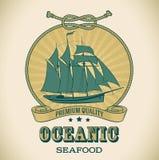 Uitstekend Oceanic etiket - royalty-vrije illustratie