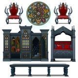 Uitstekend ontwerpmeubilair van het middeleeuwse huis Royalty-vrije Stock Foto's