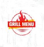 Uitstekend Openluchtbbq van de Voedselbarbecue Grafisch Vectorontwerpelement Royalty-vrije Stock Fotografie