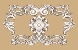 Uitstekend ornamentkader Royalty-vrije Stock Afbeeldingen