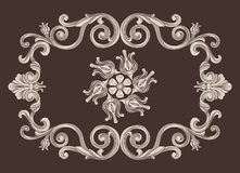 Uitstekend ornamentkader Royalty-vrije Stock Foto