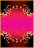 Uitstekend ornamentmalplaatje Royalty-vrije Stock Foto's