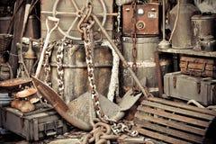 Uitstekend oud anker Stock Foto's