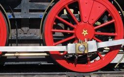 Uitstekend Oud Westelijk de Treinwiel van de Stoommotor stock fotografie