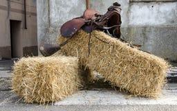 Uitstekend Paardzadel Royalty-vrije Stock Afbeelding