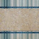 Uitstekend patroon met sneeuwvlok Stock Foto
