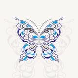 Uitstekend patroon in vorm van een vlinder royalty-vrije illustratie