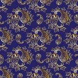 Uitstekend Perzisch naadloos patroon Stock Afbeeldingen