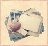 Uitstekend plakboekmalplaatje Stock Foto
