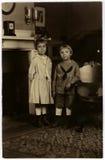 Uitstekend Portret Circa 1922 Royalty-vrije Stock Afbeeldingen