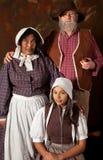 Uitstekend portret van een familie Stock Afbeelding