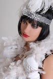 Uitstekend portret van jonge mooie vrouw Royalty-vrije Stock Foto