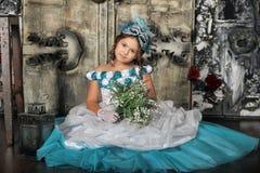 Uitstekend portret van meisje stock foto's