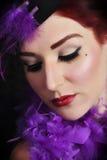 Uitstekend Portret van Mooie Jonge Vrouw Stock Foto's