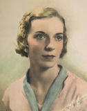 Uitstekend Portret van Vrouw /Color Royalty-vrije Stock Afbeelding