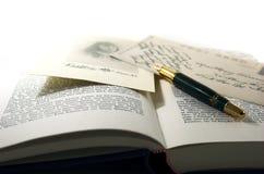 Uitstekend prentbriefkaar en boek 2 Stock Afbeeldingen