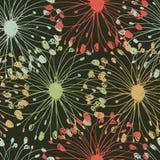 Uitstekend radiaal patroon. Grungy bloemen naadloze achtergrond voor textiel, ambachten, pakketdocumenten, behang, Web-pagina's Stock Foto's