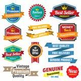 Uitstekend Retro Vectorembleem voor banner Royalty-vrije Stock Afbeelding