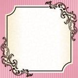 Uitstekend rococo frame in roze Stock Foto's