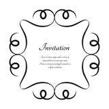 Uitstekend rond kader, kalligrafisch vignet royalty-vrije illustratie