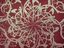 Uitstekend rood bloemenornament vector illustratie