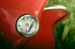 Uitstekend Rood Gekniesd Odometerdetail Royalty-vrije Stock Foto