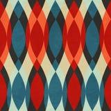Uitstekend rood naadloos patroon Royalty-vrije Stock Afbeelding