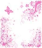 Uitstekend roze bloemenontwerp Royalty-vrije Stock Foto