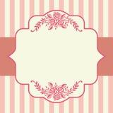 Uitstekend rozen roze frame Royalty-vrije Stock Afbeeldingen