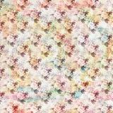 Uitstekend sjofel bloemenrozen naadloos patroon als achtergrond royalty-vrije illustratie
