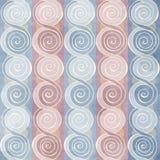 Uitstekend spiraalvormig naadloos patroon Stock Foto's