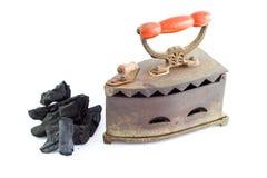 Uitstekend steenkoolijzer royalty-vrije stock foto