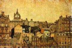 Uitstekend stijlbeeld van Edinburgh Royalty-vrije Stock Afbeeldingen