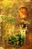 Uitstekend stijlbeeld van een antieke aarden kruik royalty-vrije stock afbeelding