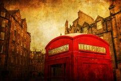 Uitstekend stijlbeeld van een callbox in Edinburgh Stock Fotografie