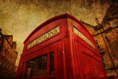 Uitstekend stijlbeeld van een callbox in Edinburgh Stock Afbeelding