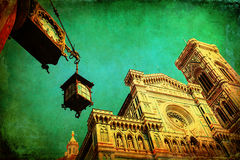 Uitstekend stijlbeeld van Florence Cathedral stock afbeeldingen