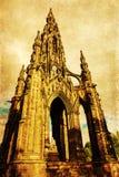 Uitstekend stijlbeeld van Scott Monument in Edinburgh Royalty-vrije Stock Foto