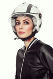 Uitstekend stijlportret van jonge mooie vrouw met modieuze mak Royalty-vrije Stock Foto's
