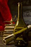 Uitstekend stilleven met wijn Stock Afbeelding