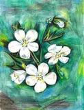 Uitstekend stoffen textiel bloemenpatroon van heldere bloemen en bladeren Royalty-vrije Stock Fotografie