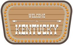 Uitstekend straatteken Kentucky stock illustratie